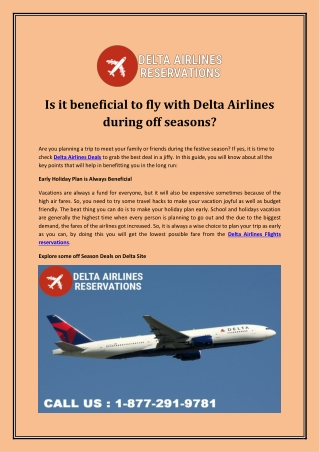 Is it beneficial to fly with Delta Airlines during off seasons?