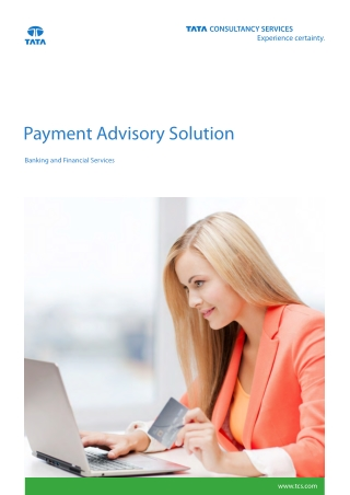 Payment Advisory Services & Solutions for Banking by TCS