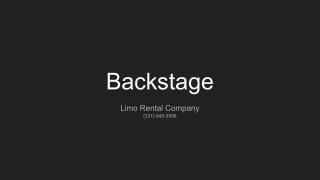 Backstage Limo Orlando Limousine Services