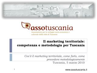 Il marketing territoriale:  competenza e metodologia per Tuscania