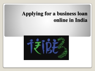 Applying for a business loan online in India