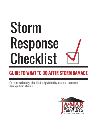 Storm Response Checklist : GUIDE TO WHAT TO DO AFTER A STORM DAMAGE