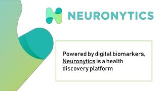 Neuronytics is a health discovery platform