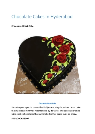Chocolate Cakes in Hyderabad
