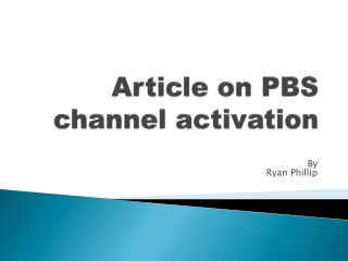 Article on PBS activation