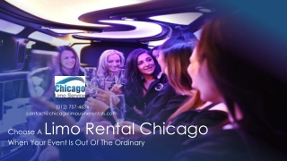Choose A Chicago Limo Rental When Your Event Is Out Of The Ordinary
