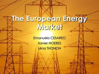 The European Energy Market