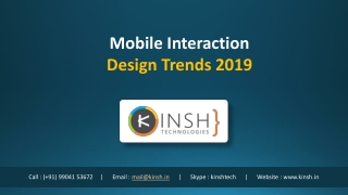 Mobile Interaction Design Trends 2019