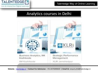 Analytics Courses in pune