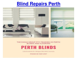 Blind Repairs Perth
