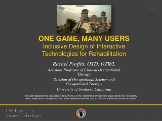 Rachel Proffitt - One Game, Many Users