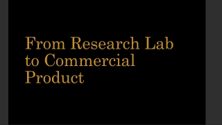 André Thomas - From Research Lab to Commercial Product