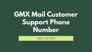 GMX Mail Customer Support【1-866-740-0907】Phone Number