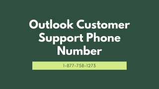 Outlook Customer Support【1-877-758-1273】Phone Number
