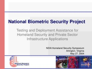 National Biometric Security Project