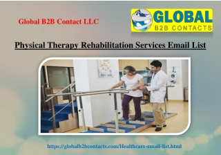 Physical Therapy Rehabilitation Services Email List