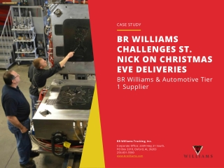 BR WILLIAMS CHALLENGES ST. NICK ON CHRISTMAS EVE DELIVERIES