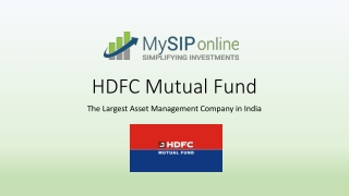 Know Why To Invest In Schemes Of HDFC Mutual Fund