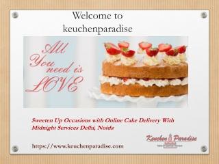 Buy Cakes Online in Delhi with Keuchen Paradise
