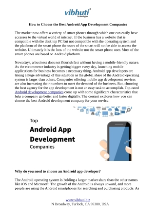 How to Find an Ideal Android App Development Company?