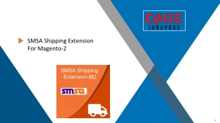 SMSA Shipping Extension For Magento2