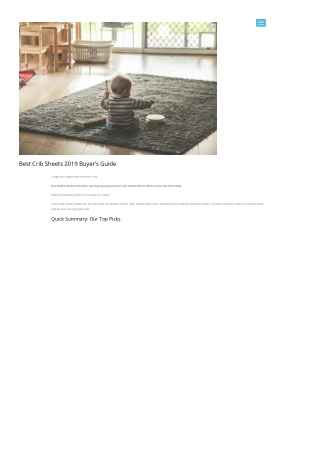 Best Crib Sheets 2019 Buyer's Guide