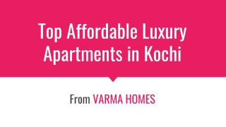 Best Apartments in Kochi