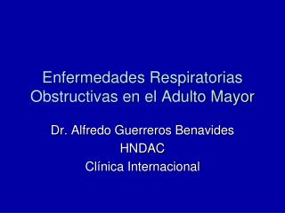 Enfermedades Respiratorias Obstructivas en el Adulto Mayor