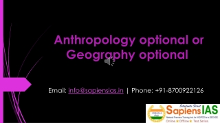 Anthropology optional or Geography optional
