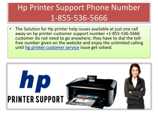 Hp Printer Support Phone Number 1-855-536-5666