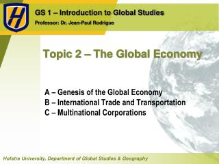 Topic 2 – The Global Economy