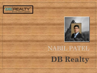 Nabil Yusuf Patel Director of DB Realty