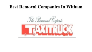 Best Removal Companies In Witham