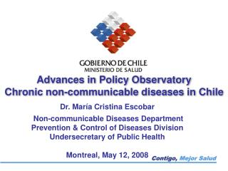 Advances in Policy Observatory Chronic non-communicable diseases in Chile