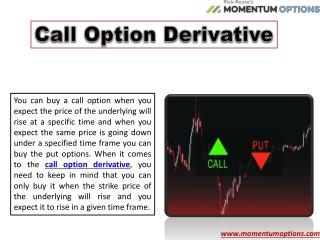 Call Option Derivative