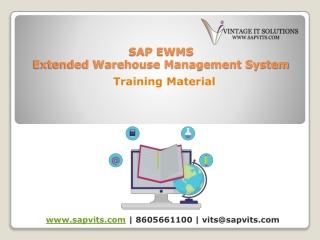 SAP EWM PPT | SAP EWM Training Material