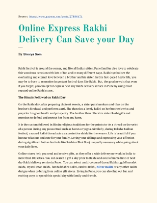 GiftaLove.com Express Rakhi Delivery Can Save Your Day