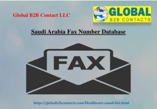Saudi Arabia Fax Number Database