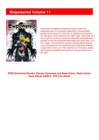 [P.D.F] Empowered Volume 11 #LIMITED