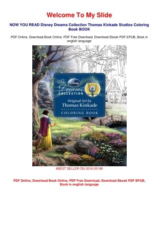 DOWNLOAD Disney Dreams Collection Thomas Kinkade Studios Coloring Book #LIMITED
