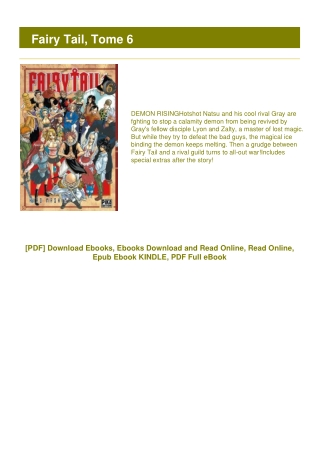 <PDF> Fairy Tail, Tome 6 #LIMITED