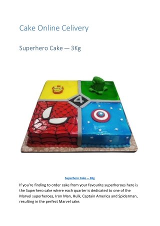 Cake Online Delivery