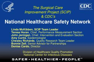 The Surgical Care Improvement Project (SCIP) & CDC's National Healthcare Safety Network