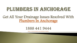 Get All Your Drainage Issues Resolved With Plumbers In Anchorage