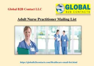 Adult Nurse Practitioner Mailing List