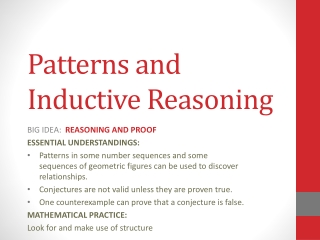 Patterns   Inductive Reasoning Part One