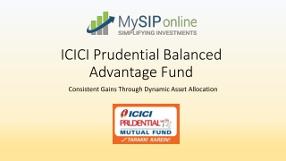 Create Wealth By Investing In ICICI Prudential Balanced Advantage Fund