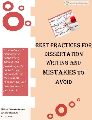 Best Practices for Dissertation Writing and Mistakes to Avoid