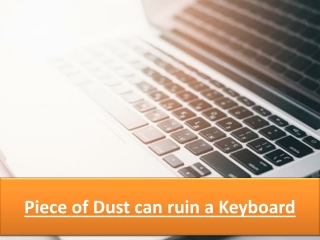 Piece of Dust can ruin a Keyboard