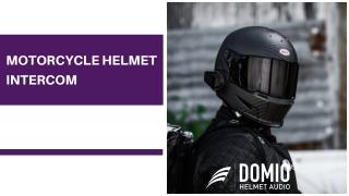 Motorcycle Helmet Intercom - Domio Sports